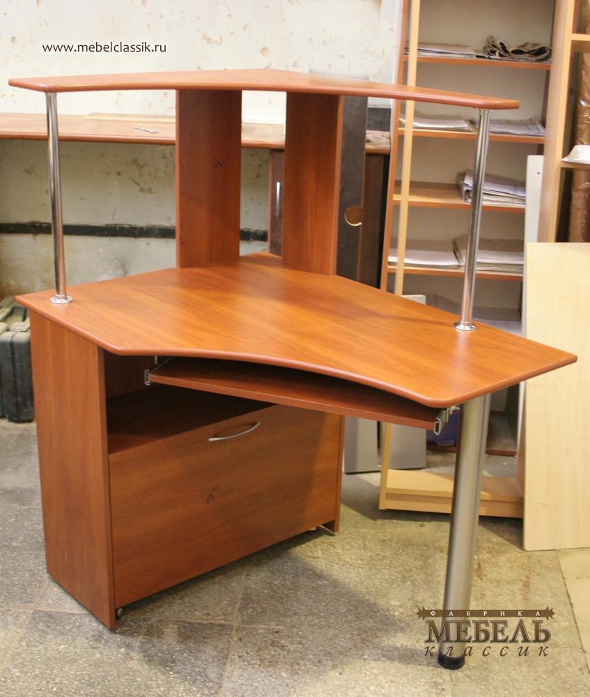 Угловой компьютерный стол с надстройкой купить мебель в моск.