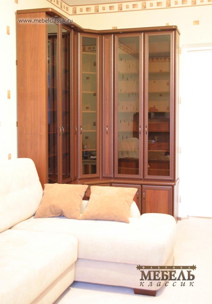 Угловой книжный шкаф купить мебель в москве, изготовление ме.