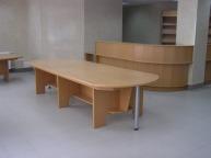 Изготовление ресепшна со столом для посетителей