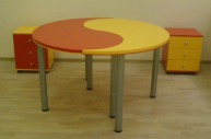 Изготовление стола письменного «инь-янь»