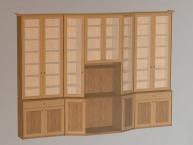 3D модель стенки для книг