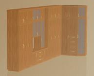 3D модель угловой стенки в гостиную