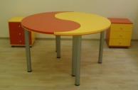 Столы для офиса «инь-янь»